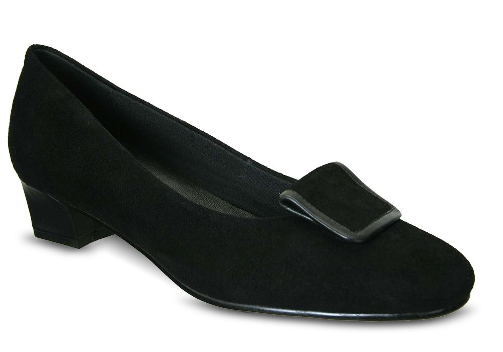 David Tate Ariana Black Suede Womens Shoe